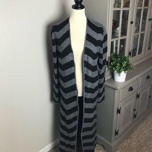 Garnet Hill Long Cardigan/Duster Wool/Alpaca Sz L